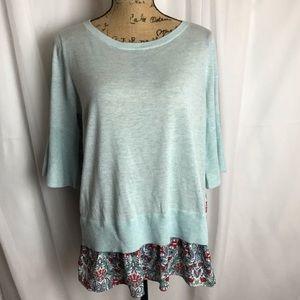 NWT Loft Bell Sleeve Sweater/Blouse